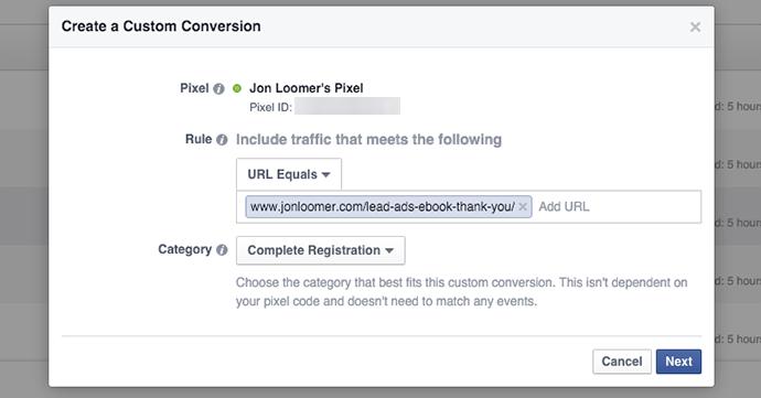Conversions personnalisées