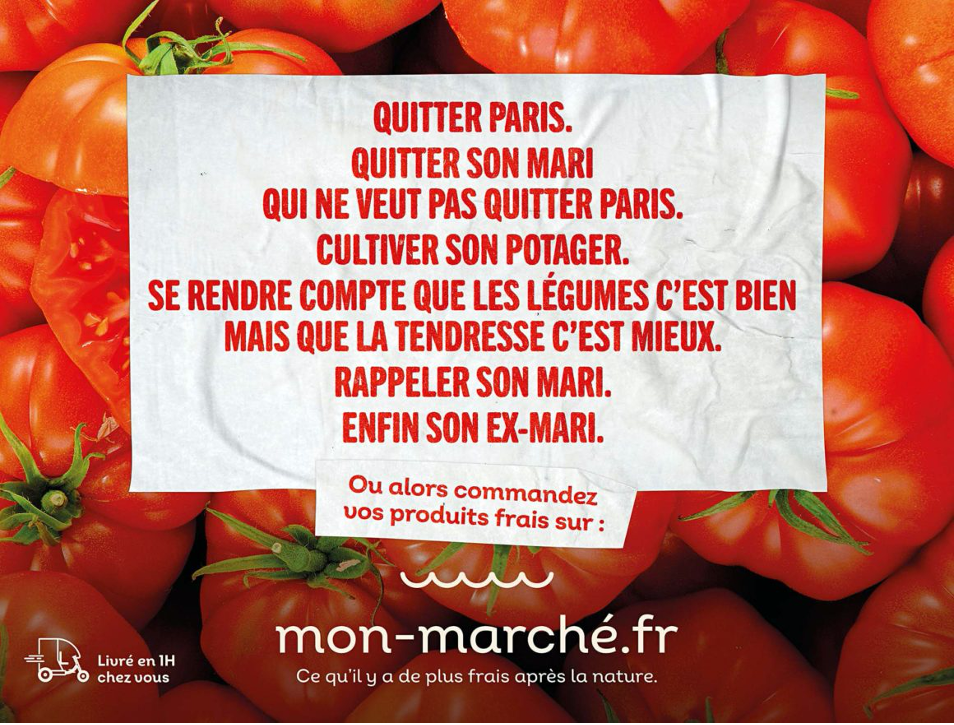Pub mon-marché.fr 2020 - Affichage extérieur