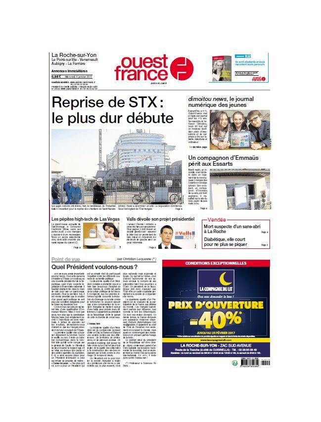 Ouest France - Edition La Roche sur Yon