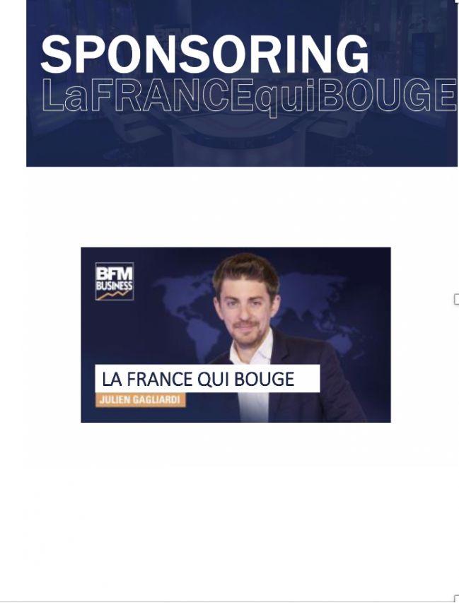 BFM TV - Sponsorship La France qui bouge