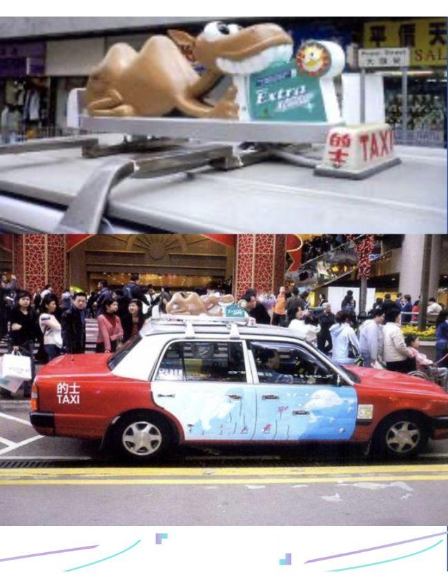 Easy Group - Taxi avec box 3D top + 4 portes sticker