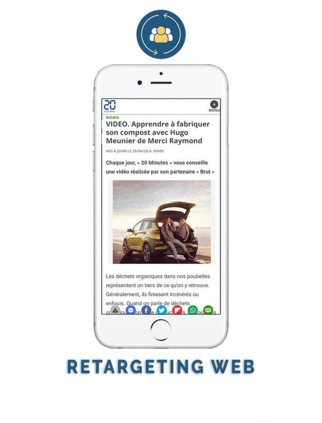 Retargeting web
