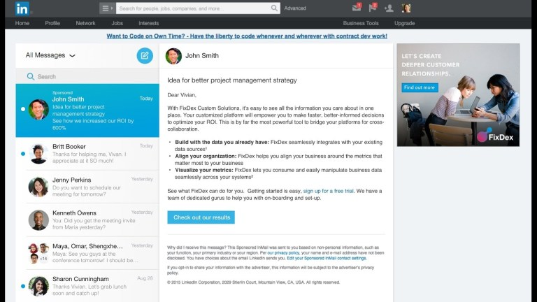 Linkedin Inmail - Linkedin Message Ads