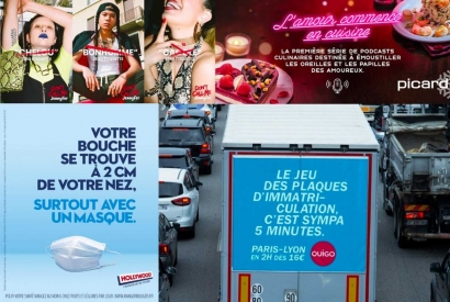 Top 10 of the most creative advertisements in 2020 in France